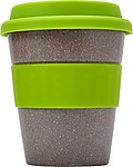 Bambusový hrnek se zeleným silikonovým víčkem