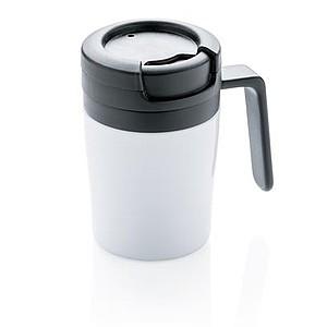 Hrnek Coffee to go s ouškem, bílý - reklamní hrnky