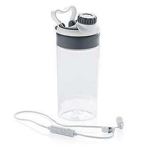 Nepropustná láhev s bezdrátovými sluchátky