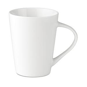 Porcelánový hrnek kónického tvaru. 250 ml, bílá