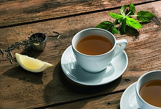 VS TRIPURA sada 6 šálků a podšálků na čaj - reklamní hrnky