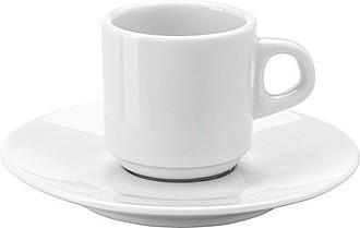 Porcelánový šálek 70 ml s podšálkem - reklamní hrnky