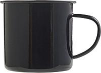 Kovový hrnek ve vintage stylu, černý 350 ml