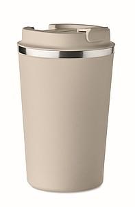 Dvoustěnný pohárek, objem 350 ml, béžová