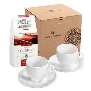 SERENATA SET Dárková sada na kávu Vanilla Season - reklamní hrnky