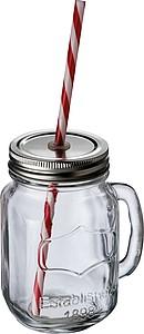 RELAXET Sada nádoby na pití s kohoutkem a 4 sklenic s víčkem a brčkem
