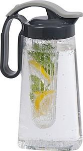 Plastý džbán s infuzérem, objem 1,8l - sklenice s potiskem
