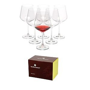 VS WANAKA 6 Sada 6ks sklenic na červené víno, 570 ml - reklamní hrnky