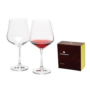 VS WANAKA 2 Sada 2ks sklenic na červené víno, 570 ml - reklamní hrnky