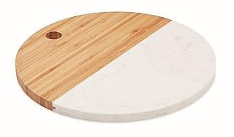 Kombinovaný servírovací talíř, bílá/béžová