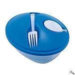 FRESH Plastová miska na salát s modrým víčkem