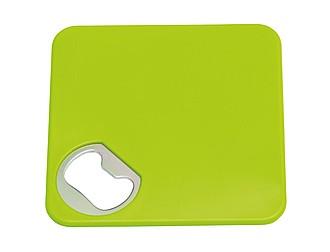 SERVIO Podtácek s otvírákem na lahve v jednom, zelená