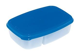 TASTY Lunchbox s plastovým příborem a modrým víčkem
