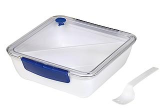 Lunchbox s odnímatelnou přihrádkou, modré detaily