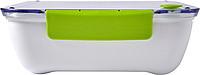 IZIBU Obědová krabička (920 ml) s průsvitným víkem a silikonovým uzávěrem, zelená