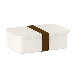 Obědová krabička s gumičkou, hnědá