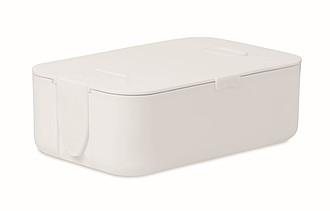 Obědová krabička z PP, objem 1l, bílá