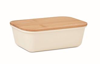 Obědová krabička s bambusovým víčkem, objem 1l, béžová