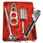 Špagetový set z ušlechtilé oceli, stříbrná