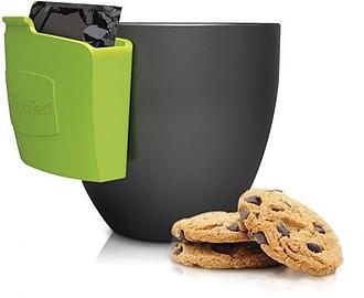Závěsná kapsička na hrnek pro odložení čajového sáčku,zelená