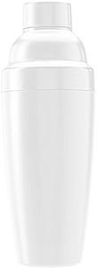 Plastový koktejlový šejkr 550 ml, bílý