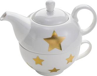 čajová konvice se šálkem