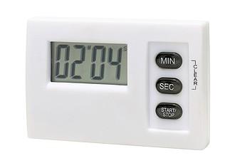 minutník s LCD displ., bílý