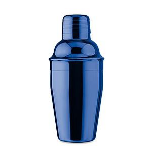 Nerezový koktejlový shaker s lesklým povrchem, 300ml, královská modrá