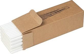 Papírové slámky, 100ks,bílá