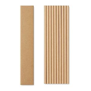 Papírová brčka, 10ks v krabičce, béžová