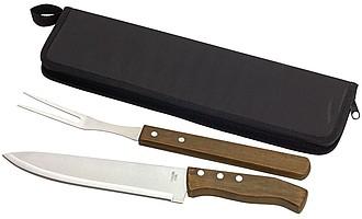 Porcovací sada nože a vidličky v pouzdru