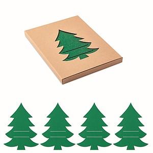 Vánoční příborové podložky na slavnostní prostírání, tmavě zelená