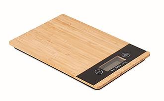 Kuchyňská digi. bambusová váha, středně hnědá