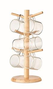 Bambusový držák hrnečků, středně hnědá