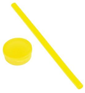 Silikonové brčko v krabičce, žluté