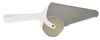 VENDA Nůž na pizzu z nerezové oceli, bílá