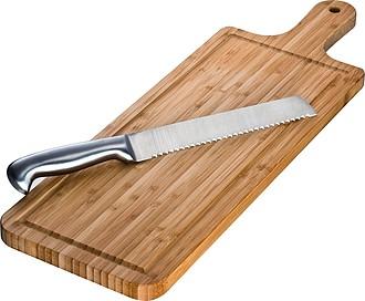 FAGNES Bambusové krájecí prkénko s nožem na pečivo