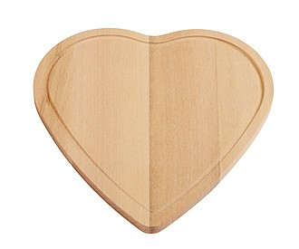 Dřevěné krájecí prkýnko ve tvaru srdce