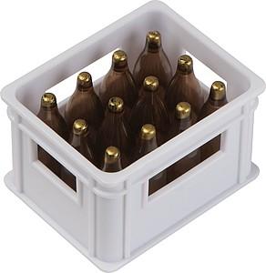 TRAMAGO Plastový otvírák ve tvaru bedny piv, bílá
