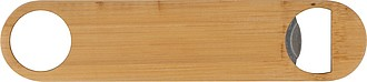 Velký nerezový otvírák s jednou stranou z bambusu
