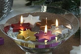 TERKA plovoucí svíčka ve tvaru hvězdy, červená