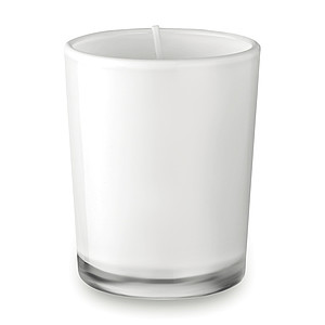 Malá svíčka ve skle, bílá