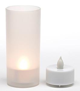 Dekorační svíčka s LED světlem a tlačítkem pro zapnutí