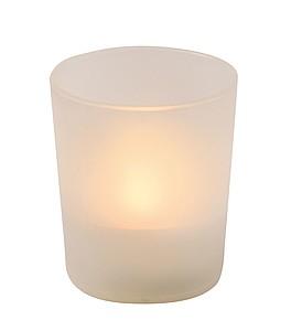 Nízká dekorační LED svíčka s tlačítkem pro zapnutí