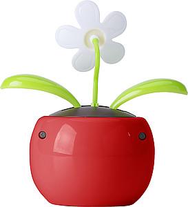 Solární kytička, červený květináč