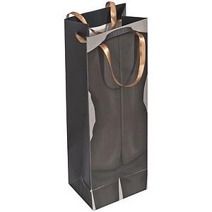 Papírová taška na víno s mužským vzorem