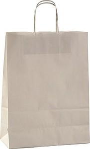 ERNA 26 Papírová taška 26x11x34,5 cm, bílá papírová taška s potiskem