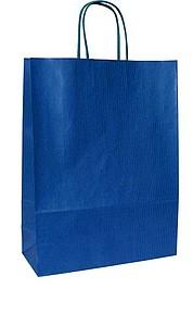 ANKA 23 Modrá papírová taška 23x10x32 cm, kroucená držadla