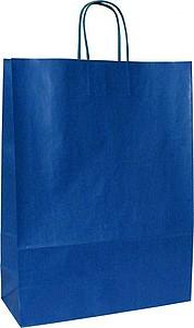 ANKA 32 Modrá papírová taška 32x12x42,5 cm, kroucená držadla
