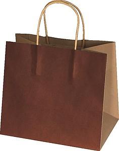 Recyklovaný papírový sáček malý,hnědá